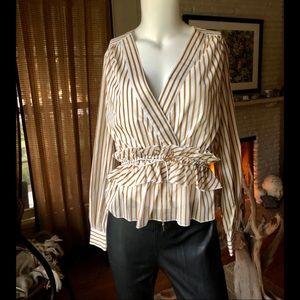 Robert Rodriguez Tops - Robert Rodriguez striped Mariel blouse